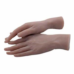 B Blesiya Paire Mains de Mannequin Femme Modèle de Pratique à Ongles, Main Fausse A Pratique Apprentissage Pour Manucure Display Couleur