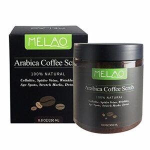 Bluelover Melao 100% Natural Arabica Café Gommage Exfoliant Anti-Cellulite Detox Vergetures Enlever Les Rides