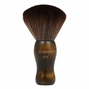 Blusea Balais à Cou à Poils Longs Poignée en Bois de Coupe de Cheveux de Salon de Coiffure