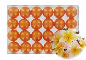 Boîte de 24 perles d'huile de bain – Monoï orange nacré