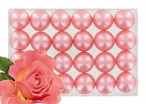 Boîte de 24 perles d'huile de bain – Rose nacré