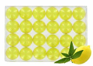 Boîte de 24 perles d'huile de bain – Verveine/citron translucide