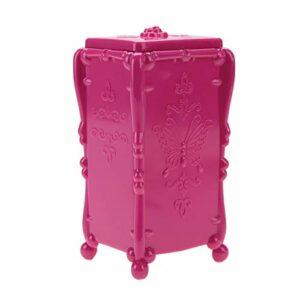 Boîte de rangement pratique élégante boîte de rangement organisateur boîte de rangement Nail Art pour les amateurs d'art des ongles pour Salon(rose Red)