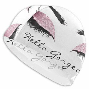 Bonjour Magnifique Bonnet de Bain Lycra Cils Confortables Bonnets de Bain Coupe et Douche Couverture de Cheveux Protection des Oreilles