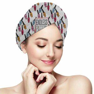 Bonnet pour Cheveux secs Serviette de Vernis à Ongles colorée Serviettes pour Cheveux secs Enveloppez Absorbant Doux Cheveux Rapidement secs Séchage Turban Chapeau de Cheveux Cheveux Serviette de sé