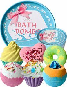Boule de Bain, Bombe de Bain Coffret Cadeau Cadeau Femme, boules de bain, Boules de Bain Effervescent, Coffret Bain, Cadeau Noel Femme Maman, Anniversaire de Mariage, Saint Valentin, Fête des mères