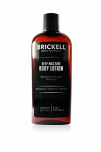 Brickell Men's Products Lait Corps Hydratation Profonde – Naturel et Bio (Parfumé, 8 onces)