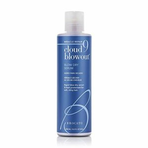 Brocato Cloud 9 Coup sec Sérum: Chaleur Protectant Blowout Crème Revitalisant Lissage Shine – Blow Out Baume pour les femmes avec un style thermique et la protection redressage Pour cheveux Lisseur – 8.5 Oz