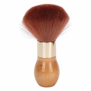 Brosse de cou avec manche en bois Brosse de balayage de cheveux Duster de coiffeur pour coiffeur à domicile