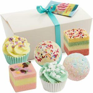 BRUBAKER Cosmetics Boules de bain – 6 Pièces – Coffret cadeau 'Sweets for my Sweet' – Vegan