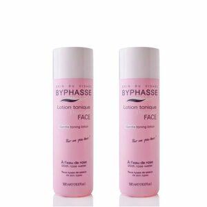 Byphasse LOT DE 2 – Lotion tonique à l'eau de rose – 500 ml – Tous types de peaux