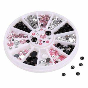 Caigaodz Diamant de décoration d'ongle Nail Art Bijoux Acrylique Diamant Coffret Ongles Nail Art Drill Décorations Cristal Manucure Professionnelle Ongles (Color : 01)