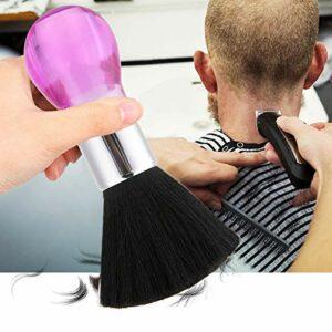 Chiffon cou – Sweep brosse à cheveux, salon de coiffure cheveux nettoyage cou visage cheveux Duster Brosse à épousseter (Couleur : Rose)