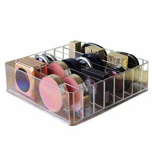 Coconut Rouge à lèvres Fard à paupières Vernis à Ongles Transparent Boîte de Rangement Coton Swab Maquillage Puff Bijoux 8 Grids Organisateur détachables