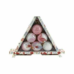 Coffret beauté de bain avec 6 Bombes effervescentes – Rose – Idée cadeau