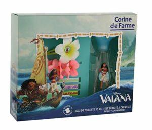 Corine de Farme – Coffret Disney Princesses – Vaiana Eau de Toilette + Barrette + Bracelet + 3 Rubans 30 ml
