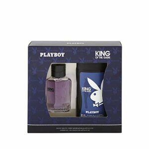 Corine de Farme – Coffret Playboy King Of The Game – Coffret Cadeau pour Homme – Eau de Toilette 60 ml et Gel Douche 2 en 1 250 ml – Parfum Oriental Frais