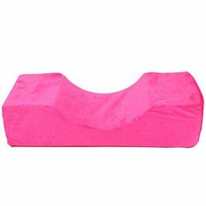 Coussin pour Extensions de Cils Greffage Cils Coussinets Doux Coussin Confortable pour Maquillage Cils Cheveux Greffage Oreiller Cou(Rose rouge)