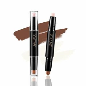 Crayon Contour Dual-Ended Contour Stick Face Lèvres Correcteur Highlight Highlight Stick 2 couleurs