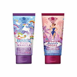 Crème pour les mains Duo de CCL Beauty (2 x 50 ml) Rainbow Loves Vanilla & Sunsets in Vegas Crème pour les mains pour les mains, les ongles et les pieds Hydratante et nourrissante…