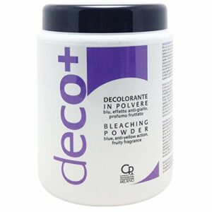 Deco+ Blue Vase Poudre Décolorante – Soin Professionnel Anti-Jaunissement – Idéal Pour Les Cheveux Blonds – Pour Éclaircir Jusqu'À 6 Nuances – 500 G