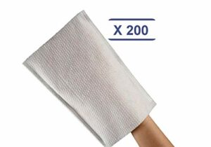 déliktess® – 200 Gants de Toilette gaufrés jetables – Qualité Luxe – Très doux