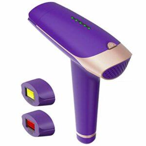 Épilateur, dispositif rechargeable d'épilation au laser 2-en-1 pour le visage corporel, le bikini et les aisselles, tenu dans la main