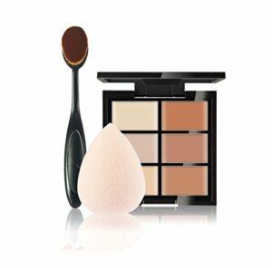 FantasyDay® 6 Couleurs de Maquillage Crème Visage Lèvres Cache-ernes Mettez en Surbrillance Contour Correcteur Camouflage Fond de Teint Pour Cosmétique + 1 Pinceau Maquillage + 1 beauty blender #1