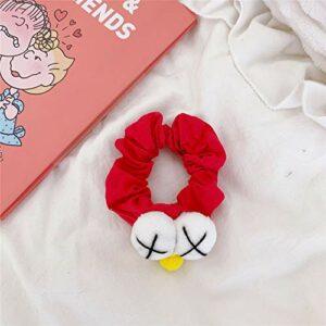 Femmes accessoires de cheveux dessin animé yeux cravate de cheveux chouchous en mousseline de soie queue de cheval cheveux chouchou titulaire corde chapeaux pour filles enfants