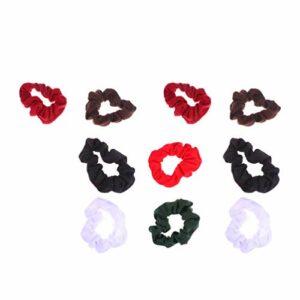 FRCOLOR 10 Pièces Chouchous Cheveux Élastiques Bobbles Cheveux Chouchous Cravates Accessoires pour Cheveux Cadeaux pour Femmes Filles Été Salle de Bain Sport