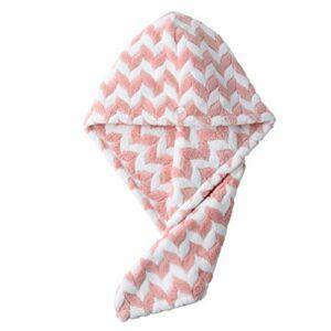 FRCOLOR Serviette pour Les Cheveux Corail Molleton Wrap Turban Molleton Bain à Séchage Rapide Séchage Rapide Absorbant Cheveux Séchage Capuchon Fournitures de Salle de Bain pour Filles Femmes
