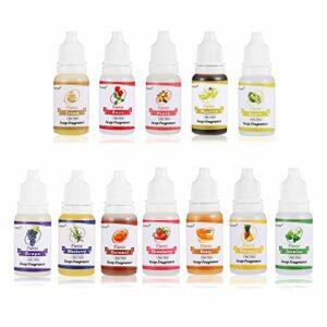 Funxim uile parfumée, 12 parfums liquides pour Slime DIY, cosmétique et Bombe de Bain, 10 ML Chaque Bouteille