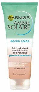 Garnier Ambre Solaire, Soin Hydratant Amplificateur de Bronzage, Après-Soleil Visage et Corps, 200 mL
