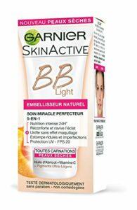 Garnier – Skin Active – BB Crème 5 en 1 Spécial Light Embellisseur Peaux Sèches Naturel 50 ml