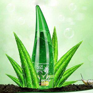 Gel d'Aloe Vera, Aloe Vera pour le corps et les cheveux, Gel apaisant pur à l'aloe vera BIO Visage Hydratant pour le visage, Hydratants après-soleil pour le corps – Soins pour les coups de soleil