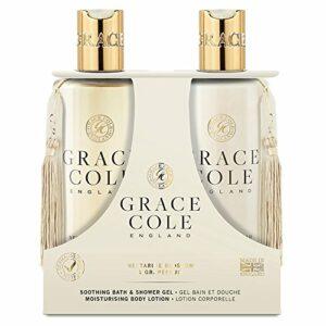 Gel douche et bain 300 ml, lotion pour le corps par Grace Cole – Nectarine Blossom & Pamplemousse