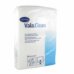 Hartmann Valaclean Soft Set de 50 Gants de Toilette Non Tisse 15 x 23 cm