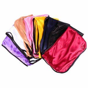Healifty 8 Pcs Polyester Bonnet Nuit Sommeil Bonnet Dormir Tête Couverture Nuit Sommeil Chapeau Doux Soyeux Casquette De Perte De Cheveux Pour Femmes Filles