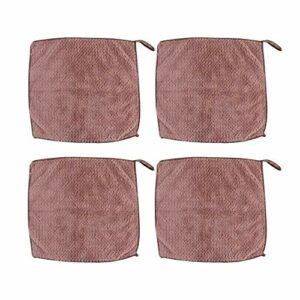 HEALLILY 4 Pcs Exfoliant Bain Gant de Toilette Petit Carré Doux Non-Tissés Serviette pour Le Visage Exfoliant Visage Lavage Nettoyage Nettoyage pour Hôtel Voyage