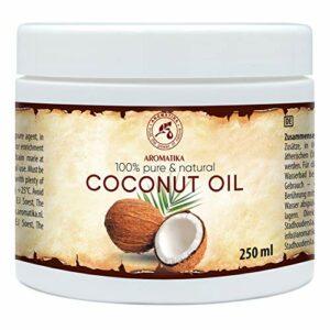 Huile de Noix de Coco 250ml – Huile de Cocos Nucifera – Indonésie – 100% Pure & Natural Pressée à Froid – Meilleurs Avantages pour la Peau