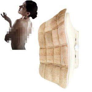 Inconnu Douche exfoliante Mains Libres Gommage for Le Dos Loofah , Montage Mural , Nettoie Le Dos, Zones Difficiles d'accès et améliore la santé de Votre Peau