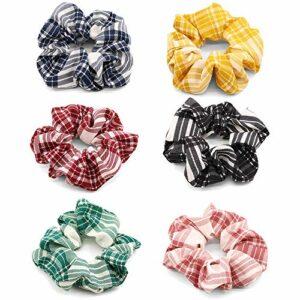 IWILCS 6 pièces chouchous, chouchous en velours, chouchous colorés, gommages en velours élastique, serre-tête porte-queue de cheval, chouchous filles chouchou,