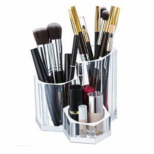 JenLn Simple Pinceau De Maquillage Seau Transparent Maquillage Beauté Pinceau Acrylique Tube Pen Holder Maquillage Multifonctions Cas de Maquillage cosmétique (Color : Clear, Size : One Size)