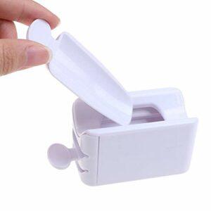 Jiaao 1 boîte de rangement pour ongles en poudre de recyclage de poudre de trempage de poudre de collecte de poudre de trempage plateau en plastique pour manucure
