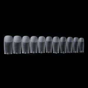 Jie Du 500 faux ongles artificiels faux ongles blancs pour salon de manucure et nail art
