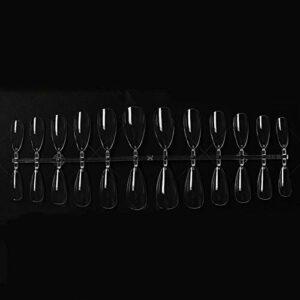 Jie Du 504 Faux Ongles Artificielles Faux Ongles Transparentes Couverture Complète Faux Ongles Pour Ongles Salon Ongles Et Nail Art