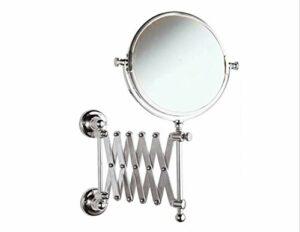 JJZHY 3X Magnifié Miroir De Maquillage Double-Face Salle De Bains Miroir De Toilette Rétractable Miroir Pliant Miroir HD Loupe Visage,comme montré,Taille Unique