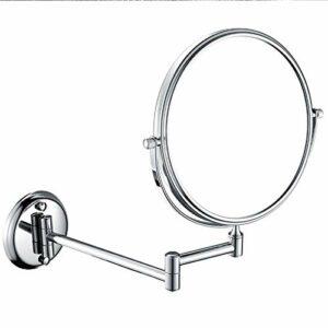 JJZHY Miroir De Salle De Bains avec Miroir De Maquillage 10X Pliant 10 Miroir en Métal en Forme De Loupe,Double pôle,8 Pouces 10X