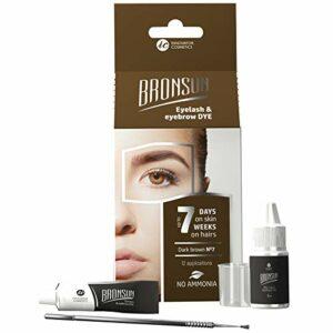 Kit de coloration pour sourcils – 4 pièces – Marron foncé