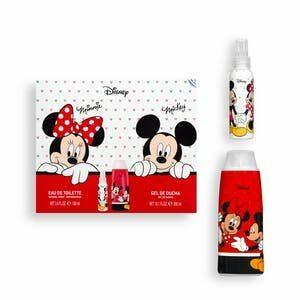 Kit enfant Disney Mickey & Minnie contient de l'eau de toilette 100 ml et gel douche 300 ml